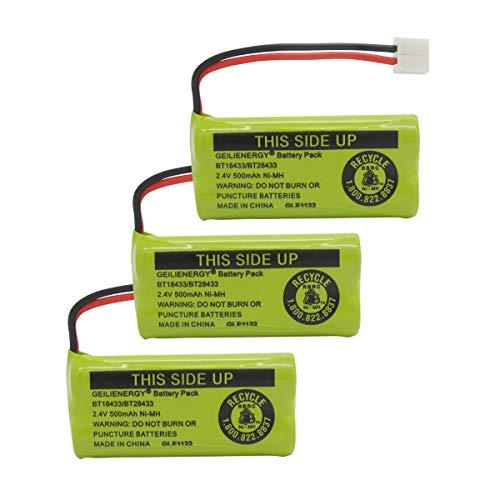 GEILIENERGY BT18433 BT28433 BT184342 BT284342 BT1011 BT-1011 Replacement Battery Compatible with Vtech Cordless Phone CS6209 CS6219 CS6229 DS6151 89-1330-01-00 CPH-515D (Pack of 3)