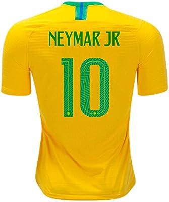dfeae7593 Amazon.com   Neymar Jr Jersey Brazil Home 2018 (Official Jersey) (L ...