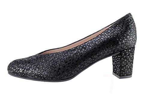 Cuir Chaussure Escarpins black Femme Negro Piesanto 175227 En Confortables Confort Amples qttrB