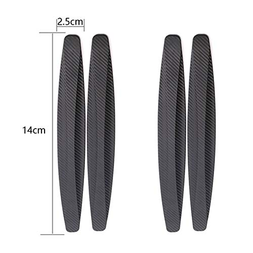 Snner 4Pcs Universal Patch Bumper Guard Strip Anti-Scratch Bumper Protector Trim for Cars SUV Pickup Truck Car Accessories-Black by Snner (Image #2)