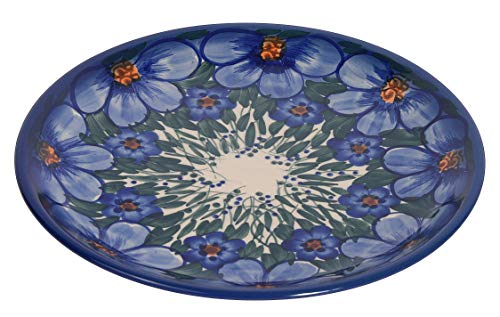 Traditional Polish Pottery, Handcrafted Ceramic Dessert Plate 19cm, Boleslawiec Style Pattern, T.102.CREDO
