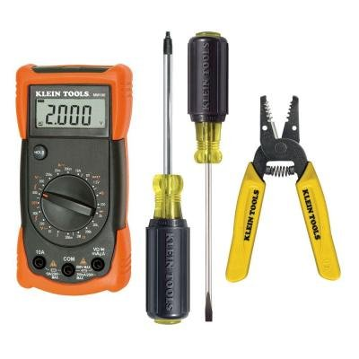 klein tools Outlet and Switch Installation Kit with Digital Multi-Meter (4-Piece)