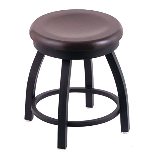 Holland Bar Stool Co. 802 Misha Vanity Stool with Black Wrinkle Finish and Swivel Seat, 18