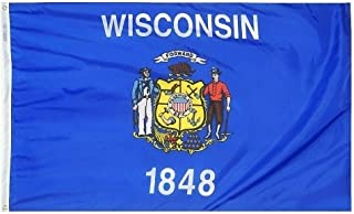 product image for All Star Flags 5x8' Wisconsin Nylon State Flag - All Weather, Durable, Outdoor Nylon Flag
