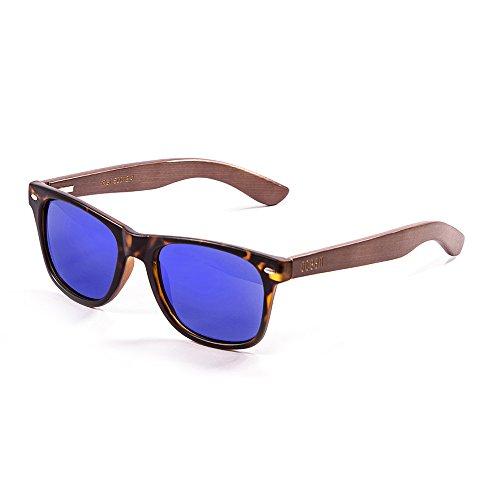 Ocean Sunglasses Beach Lunettes de soleil Demy Brown Frame/Wood Dark Arms/Revo Blue Lens GC7ugg