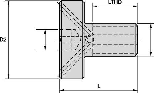 WIDIA Erickson KLSSH20Shell Mill Coolant Lock Screw 1.000-14 UNS WIDIA Products Group 1151262