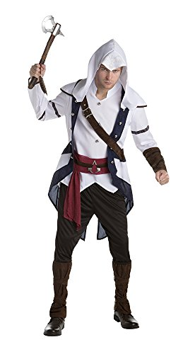 Palamon Men's Assassin's Creed Connor Classic Costume, White, Large (Assassin Halloween Costumes)