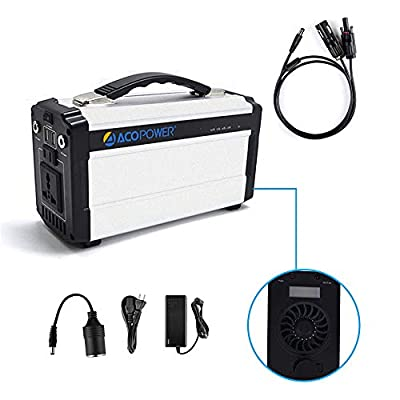 Best Cheap Deal for ACOPOWER Portable Generator for Camping 60,000mAh Lithium Ion Battery DC Inverter Power Bank USB/5V DC/12V 110V Input: AC, Car & Solar Panel, 220Wh by ACOPOWER - Free 2 Day Shipping Available