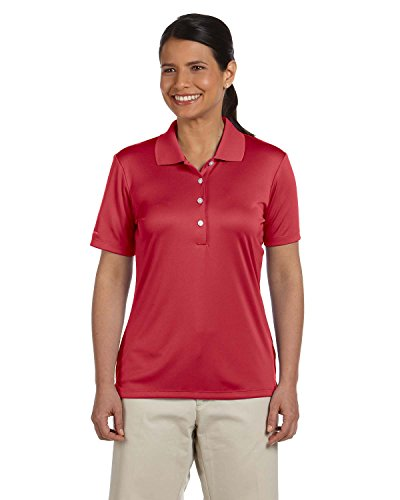 Ashworth Knit Shirt - Ashworth 3050 Ladies Performance Interlock Solid Polo - Carmine Red - M