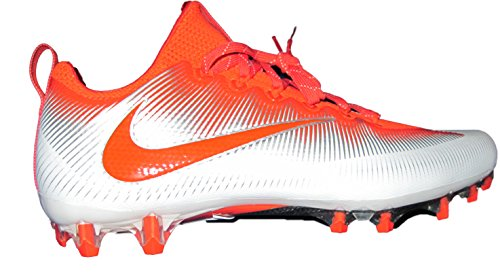 NIKE Men's Vapor Untouchable 2 Football Cleat Orange/White/Metallic Silver