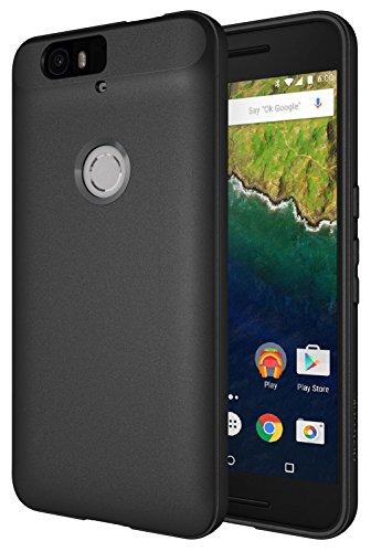 Nexus 6P Case, Diztronic Full Matte Slim-Fit Flexible TPU Case for Huawei Nexus 6P (2015) – Black – (N6P-FM-BLK)