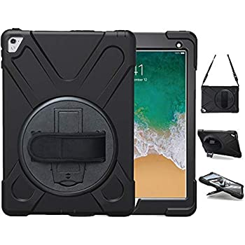 Cheap Price 360 Rotating Kickstand Hand Shoulder Strap Case For New Ipad 2017&2018 Pro 9.7 Shockproof Cover Case With Screen Protector+gifts Online Shop Tablets & E-books Case