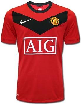 Nike Manchester United para ropa de niños y rojo de camiseta de fútbol home 2009-10 Rojo rojo/negro Talla:Extra Small boys: Amazon.es: Deportes y aire libre