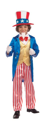 [Forum Novelties Deluxe Uncle Sam Child Costume, Large] (Costumes Usa)