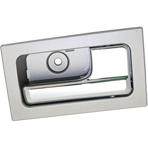 Evan-Fischer EVA187031216326 Interior Door Handle for F-150 09-14 Front RH Inside Chrome Lever+Silver Gray Housing W/ Power Lock (=Rear Crew Cab)