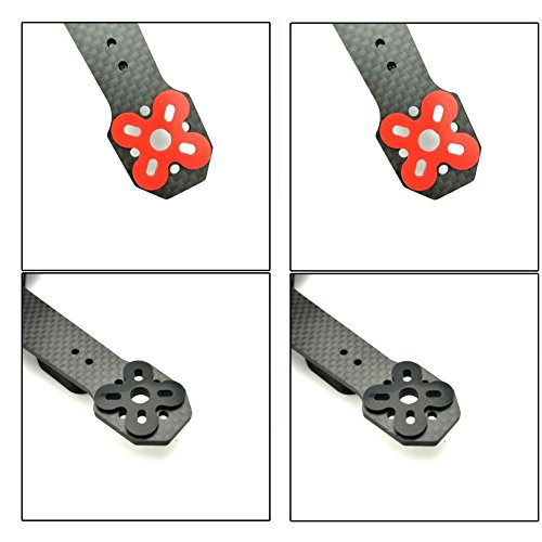 20 PCS Upgrade Version Motor Spacer Shock Absorber Pads Damper Vibration Damping Washer Silicone Material for FPV Racing 13 14 22 23 Series Brushless Motor DYS Storm Motor 2207