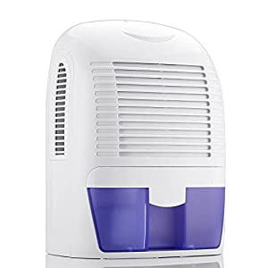Voluker Portable Dehumidifier with 50oz Removable Water Tank Eliminates odor,Small Home Dehumidifier Compact Electric Dehumidifiers for Damp Air, Mold, Moisture in Home,Kitchen,Bedroom,Office