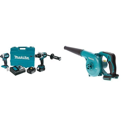 Makita XT267T 18V LXT Lithium-Ion Brushless Cordless 2-Pc. Combo Kit (5.0Ah) with DUB182Z 18V LXT Lithium-Ion Cordless Blower (Bare Tool Only)