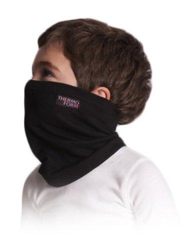 THERMOFORM © HZT 1-017 Thermo Halstuch Halsprotektor / Nackenwärmer für Kinder (2 - 6 Jahre) in Schwarz oder Weiss