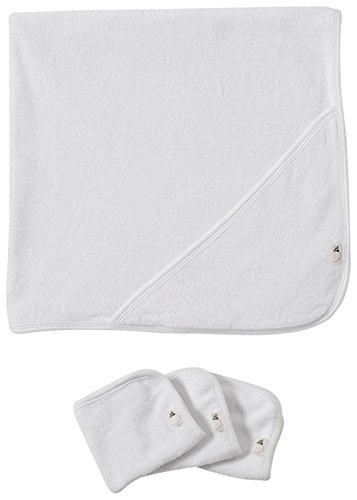 2 plis serviette Burt Bees bébé + 3 Débarbouillette Set - Cloud