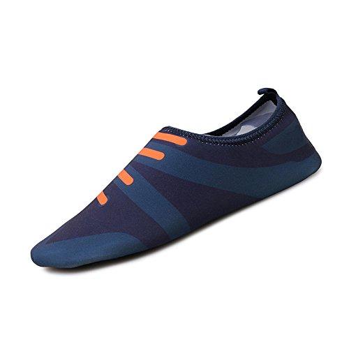 Chaussures Mode à Femmes Plage Amoureux de Chaussures Chaussures de Plongée Légers Bleu Motifs de Souples Chaussures de Sport huateng Hommes Dentelle Natation fcB0pKyqzq