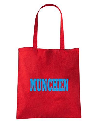 T-Shirtshock - Bolsa para la compra WC0808 MUNCHEN GERMANY CITY Rojo