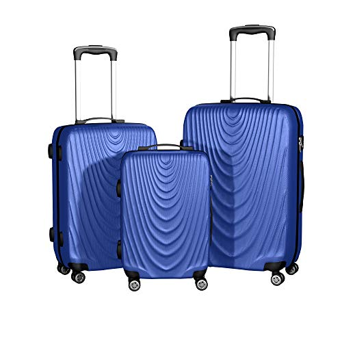3 Pieces Hardside Spinner Luggage Sets Travel Rolling Suitcase 20 24 28