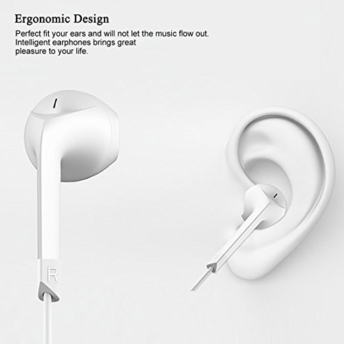 Earphones,HaRuion Earbuds,Headphones,In Ear Earphones,Ear buds Wired with Mic for Apple Iphone 6S Plus/Samsung Galaxy S9 Edge 8/Huawei/LG/Blackberry Mobile Devobile Device MP3 Music Player Ios Android by HaRuion (Image #5)