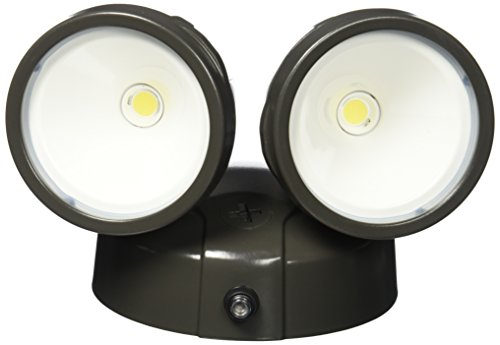 All Pro Outdoor Security FTR1740LPC All-Pro LED Twin Head Dusk-To-Dawn Flood Light, 1,600 Lumens, Bronze
