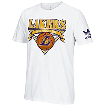 Adidas Los Angeles Lakers Camiseta de Retroceso (Color Blanco), Blanco: Amazon.es: Deportes y aire libre