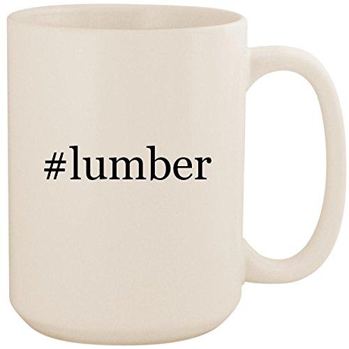 #lumber - White Hashtag 15oz Ceramic Coffee Mug -