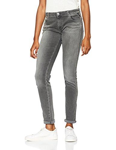 REPLAY Katewin Hyperflex, Pantalones Vaqueros Delgados para Mujer Gris (Grey Denim 9)