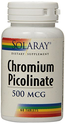 Solaray Chromium Picolinate Tablets, 500 mcg, 60 Count 500 Mcg 60 Tabs