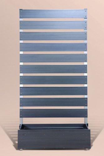 プランタボックス付コンフォートフェンス 幅90センチx高さ180センチ 板間隔3センチ ダークブラウン B006FV2U4W 23937
