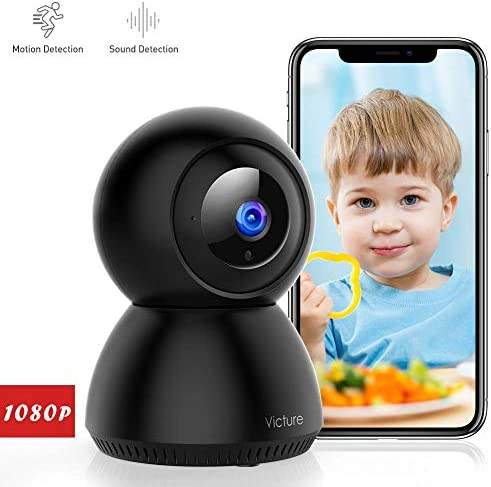 Victure 1080P FHD WiFi IP Camera Wireless 2.4 G WiFi Security Panoramic Viewing Camera with Motion Detection, 2-Way Audio, Night Vision, Home Surveillance Monitor for Baby Pet Elder
