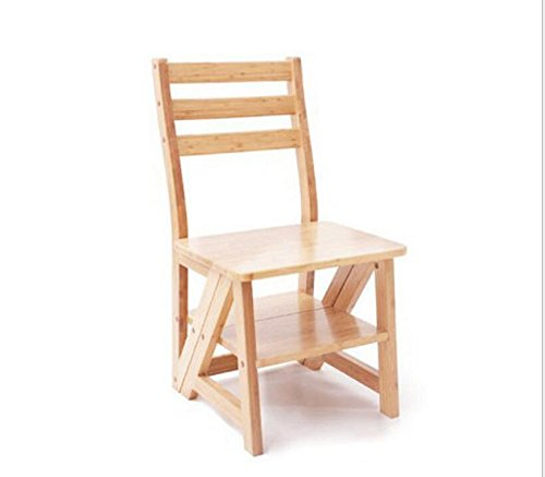 Solid wood dining chairs, green wood stools, multi-purpose folding ladder, folding chairs, ladder stool by Xin-stool