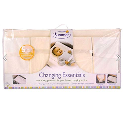 Summer Infant 5 Piece Changing Essentials Set - Ecru (Baby Terry Changing Pad)
