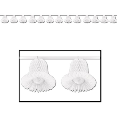 Tissue Bell Streamer (white) Party Accessory  (1 count) (1/Pkg) (Tissue Wedding Bells)