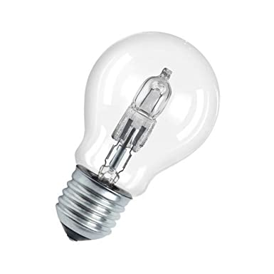 Osram Classic A Dimmable Halogen Lamp, E27, Warm White, 20 W