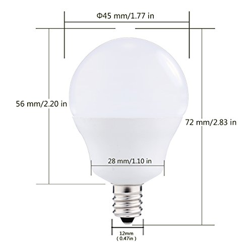 JandCase E12 Light Sensor Candelabra Bulb, Dusk to Dawn LED Bulbs for Porch, Daylight White(5000K), 40W Equivalent, 5W, 450lm, G14 Automatic Indoor/Outdoor Security Lights for Patio, Hallway, 4 Pack by JandCase (Image #1)