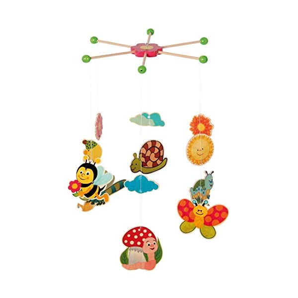 Hess Wooden Mobile Garden Baby Toy, 25 x 40 cm, Multi-Color
