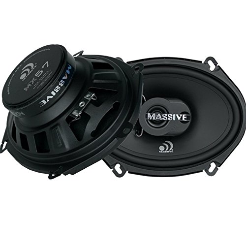 Massive Audio MX57 MX Series Coaxial Speakers. 100 Watts, 4 Ohm, 50w RMS Heavy Duty 5x7 5 Inch Coaxial Audio Speakers. Enjoy Crystal Clear Sound with these Great Coaxial Speaker System (Sold in Pairs)