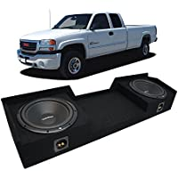 Fits 1999-2006 GMC Sierra Ext Cab Truck Rockford Prime R1S410 Dual 10 Sub Box Enclosure New - Final 2 Ohm