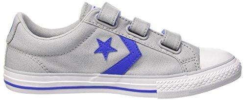 Converse Star Player Ev 3v OX, Zapatillas Unisex Niños Mehrfarbig (Wolf Grey/Hyper Royal/White)