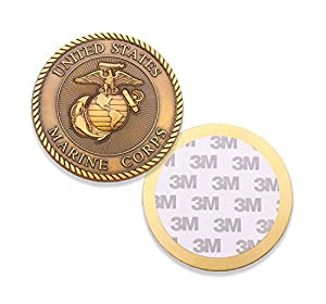 "3"" Marine Corps Challenge Coin - EGA Adhesive Medallion USMC - US Marines Car Emblem Military Coin - Amazing 3"" Custom Coin Designed by U.S.M.C Veterans by Coins For Anything Inc"