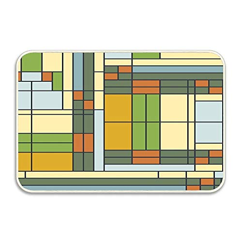 Kuytresdf Frank Lloyd Wright S01 Non-Slip Doormat Floor Entryways Indoor Front Door Mat, Kids Bath Mat, 15.7x23.6 inch