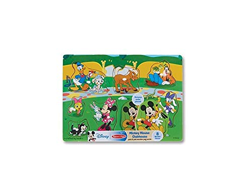 Melissa & Doug Mickey Mouse Pets & Pals Wooden Peg (Mickey Mouse Clubhouse Puzzle)