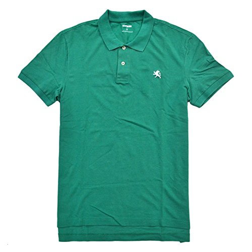Express Mens Modern Fit Pique Polo Shirt (XXL, Green) ()