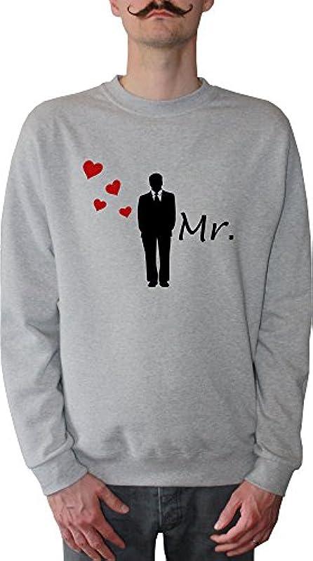 Mister Merchandise męski sweter z kapturem MR – Pan młody sweter sweter z nadrukowanym: Odzież