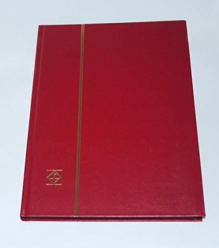 Tapa dura álbum de sello clasificador de faro con 32 combinado páginas, rojo, LS4/16